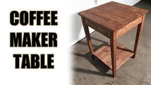 Coffee Maker Table Custom Coffee Maker Table