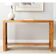 Oak Sofa Table by Safavieh Lahoma Light Oak Console Table Amh6541f The Home Depot