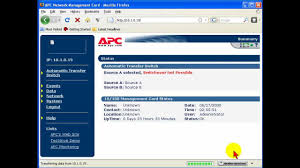 how to set ip address ap9617 apc network management card youtube