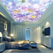 roof decoration photo wallpaper custom beautiful purple crystal diamond gemstones