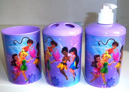 5 Piece Bathroom Set by Disney Fairies Tinker Bell 3 Piece Bathroom Accessories Purple