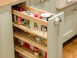 Kitchen Cabinet Organizing Kitchen Built In Slide Spice Rack In Kitchen Cabinet