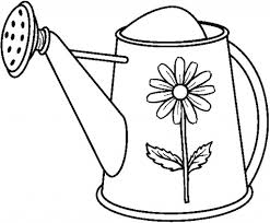 nice watering can coloring page 94 448