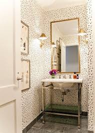 wallpaper in bathroom ideas top 25 best small bathroom wallpaper ideas on half
