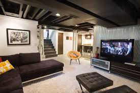 Pictures Of Finished Basement by Pictures Of Finished Basements Hall Eclectic With Artwork Banister
