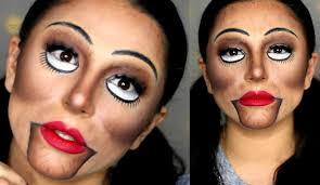 creepy ventriloquist doll makeup tutorial halloween 2015 youtube