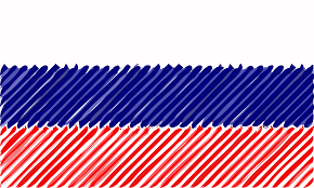 Russian Flag Colors Clipart Russia Flag Linear