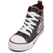 British Flag Boots Boys Girls Kids Casual Canvas Hi Top Baseball Boots Trainer Shoes