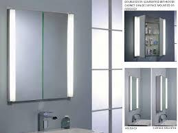 Illuminated Mirror Bathroom Cabinets Cabinet Lighting Fascinating Lighted Bathroom Mirror Cabinet With