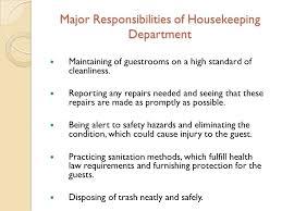 Housekeeping Resume Samples by Resume Housekeeping Description Job Description Of Housekeeping
