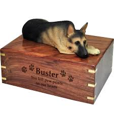 dog urns wholesale pet cremation wood urns german shepherd laying