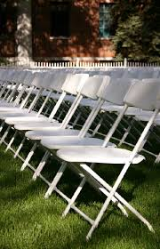 renting chairs for a wedding white samsonite wedding chair rental party plus