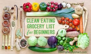 clean eating grocery list u2022 healthy food list u2022 healthy happy smart