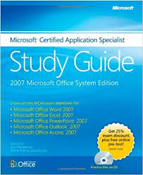 the microsoft certified application specialist study guide joyce