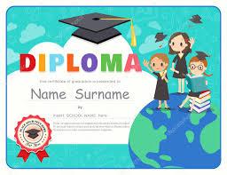 preschool graduation certificate primary school kids graduation diploma certificate design template