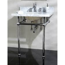 kingston brass kvpb30mb1 templeton polished chrome console tables