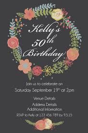 rustic wreath grey ladies 30th 40th birthday invitation
