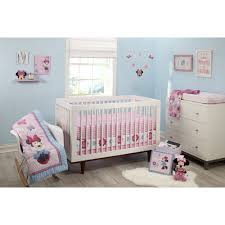 Nursery Bedding Sets Canada by Disney Minnie Mouse Happy Day 4 Piece Crib Bedding Set Walmart Com