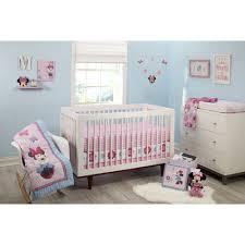 Mini Portable Crib Bedding by Disney Minnie Mouse Happy Day 4 Piece Crib Bedding Set Walmart Com