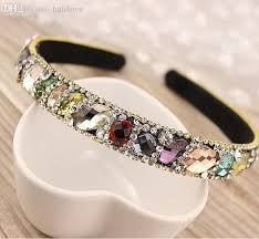 rhinestone headbands wholesale 2015 new korean hair accessories luxury colorful