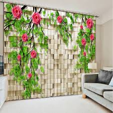Cafe Kitchen Curtains Modern Curtains Branch Flowers Window Treatments Living Room Cafe