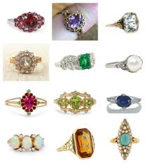 rings with birthstones birthstone engagement rings diamond engagement ring alternatives