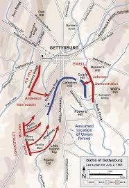 Gettysburg Map The Battle Of Gettysburg U2013 Argunners