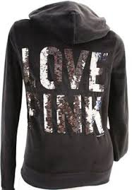 victoria u0027s secret love pink sweatshirt hoodie sequin leopard yoga