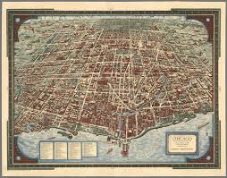 Vintage Chicago Map by Chicago The Greatest Inland City In The World David Rumsey