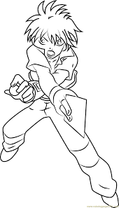 dan kuso full coloring page free bakugan battle brawlers
