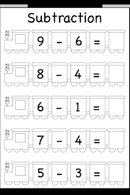 beginner subtraction u2013 5 kindergarten subtraction worksheets
