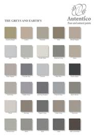 greys and earths colour chart from autentico get your chalk paint