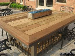Patio Table With Fire Pit Built In by Patio Patio Table Tops Home Interior Design