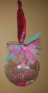 ornament breast cancer pink ribbon by stylishdecor