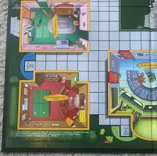 Simpsons Floor Plan Simpsons Clue Parts Gameboard Only Game Board 2nd Edition 2002