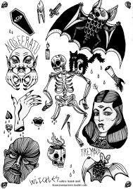 bat horror tattoos ink bats skeleton flash nosferatu