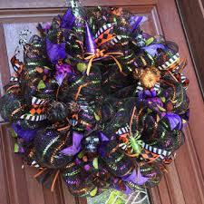 deco mesh halloween wreath spider from what u0027s on your door my