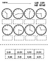 telling time cut and paste kindergarten prep pinterest cut