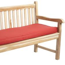 Patio Cushion Interior Red Outdoor Bench Cushions For Minimalsit Patio Decor