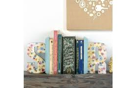 monogram bookends gifts 10 letter bookends a c