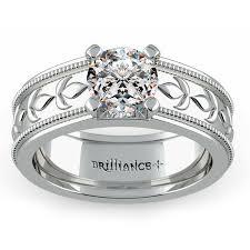 what is milgrain antique milgrain solitaire engagement ring in white gold