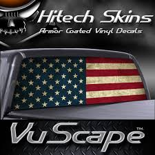 vuscapes american flag rear window truck graphic
