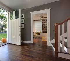 grey wall color against flooring bunglehouse gray by sherwin