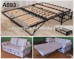 Wooden Sofa Come Bed Design by New Design Modern Convertible Steel Tube Wood Slat Folding Sofa