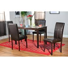 round wooden foldable dining table with sleigh metal legs most