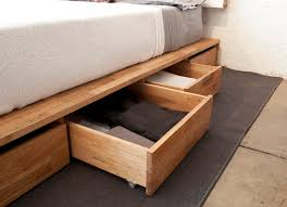 Building A Platform Bed With Storage by Bedroom Storage Making The Most Of The Under Bed Space Core77