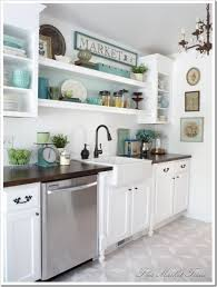 Open Shelves Above Sink Height - Kitchen sink shelves
