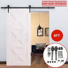 Closet Set by 6ft6 6ft8ft Barn Wood Door Hardware Steel Sliding Track Closet Set