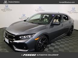 grey honda civic 2018 new honda civic hatchback sport manual at honda of danbury