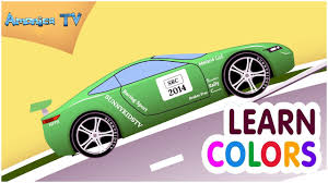 learn colors car cartoon for kids and toddlers colours cartoon